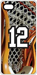 Basketball Sports Fan Player Number 12 White Plastic Decorative iPhone 5/5s Case
