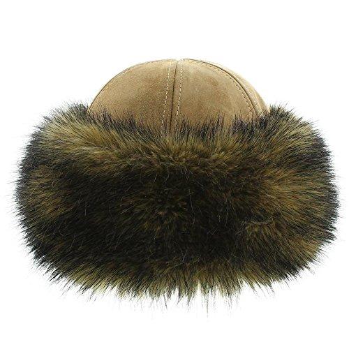 votrechapeau - Toque Cuir - Chapeau en fausse fourrure - Olga - Femme