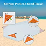 ZOMAKE Compact Beach Blanket Sand Proof