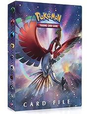 Funmo Pokemon-kaarthouder, Pokemon-ordners, kaartenalbum, verzamelmap, kaartenalbum, Pokemon-album voor verzamelkaarten, GX EX, 30 pagina's voor maximaal 240 kaarten