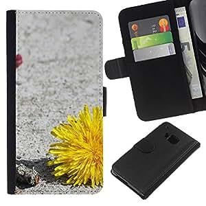 EJOY---La carpeta del tirón la caja de cuero de alta calidad de la PU Caso protector / HTC One M7 / --Planta Naturaleza Forrest Flor 34