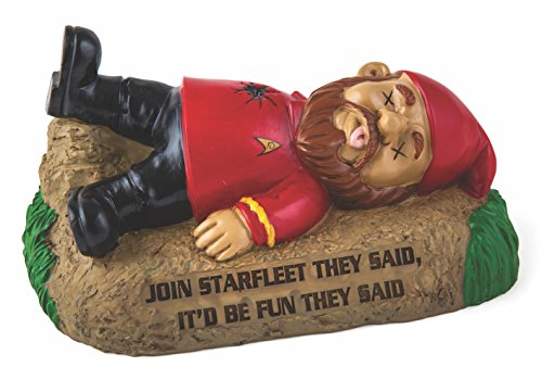 BigMouth Inc Officially Licensed Star Trek Red Shirt Gnome, Funny Lawn Gnome Statue, Garden Decoration