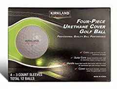 Kirkland Signature Tour Performance Will ONLY contain 4-piece, Signature Tour Performance golf balls. The legendary K Sig. The Kirkland Signature Four-Piece Urethane Cover Golf Ball features professional quality ball performance! This four-pi...