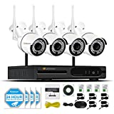 Security Camera System Wireless, Jennov 4 Channel Wireless WiFi Security Camera System Home Video Surveillance With 1080P NVR 4PCS 960P Outdoor Cctv IP Network Cameras Motion Detection Remote Control