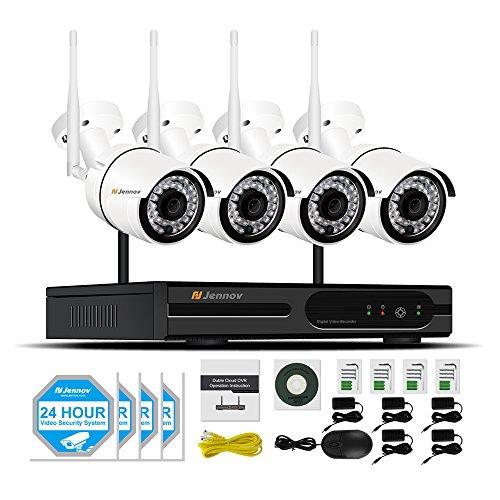 12. Jennov 4 Channel Wireless WiFi Security Camera System