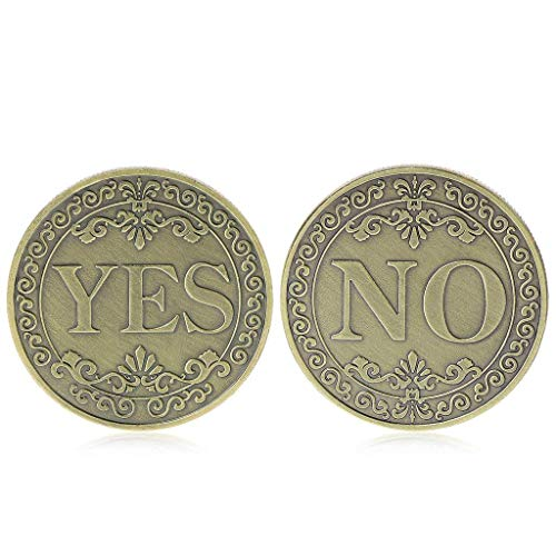 (Balai Flipper Challenge Coin Retro Pattern Valuable Collecting Vintage Metal Commemorative Coins for Commemoration Floral YES No Letter Ornaments Collection Arts Gifts Souvenir)