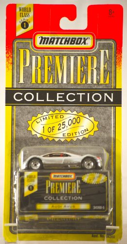 1995 - Tyco - Matchbox Premiere Collection - World Class Series 1 - Audi Avus - Silver/ Chrome - 1 of 25,000 - 1:64 Scale Die Cast - New - Out of Production - Rare - Limited Edition - Collectible