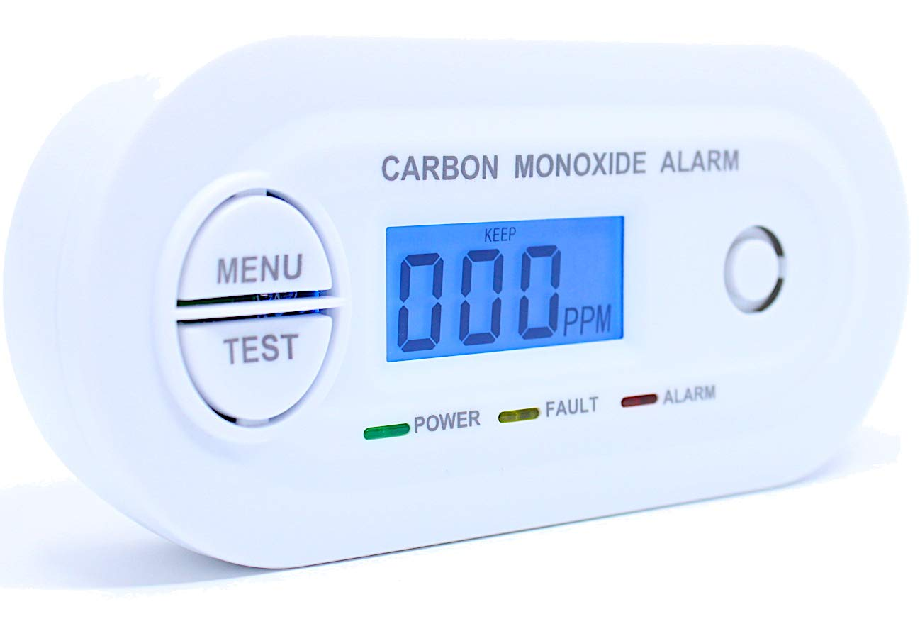 Fast & Low Level CO Monitor | Display > 10ppm | 25ppm Alarm | Wall or Table Top | 10 Year Life | by FORENSICS DETECTORS