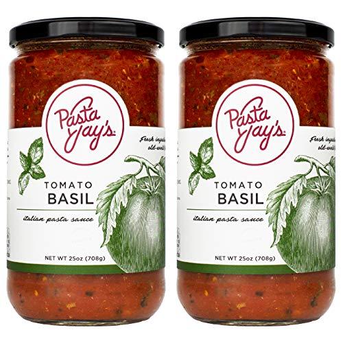 Pasta Jay's Pasta Sauce, Tomato Basil, 25 oz (Pack of 2)