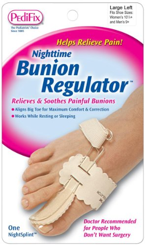 PediFix Nighttime Bunion Regulator, Large Left