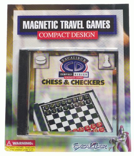 Chess Travel Excalibur (Excalibur Compact Chess & Checkers Magnetic Travel Game)