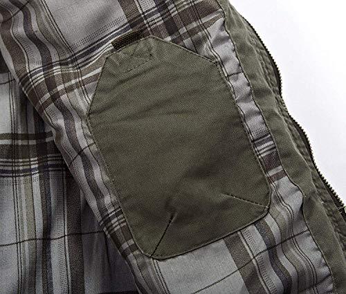 Ntel para Bomber De Clásica De Ropa Chaqueta HX Chaqueta Hombre Ocio De Hombres Tamaños De con Larga Parka Hombres Cremallera De Chaqueta Manga fashion Algodón para Schwarz Cómodos 0qfA6q