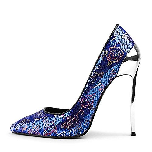 Party Blue Summer Koyi Air Spoons Sandals Side Shoes New Pump Wedding 12CM Fashion Heels Stiletto pdUzd6xqw