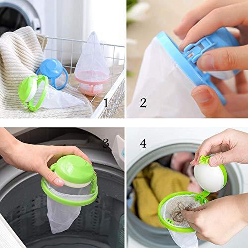 3 Pack, Blue UMIWE Waschmaschine Filter Taschen Haarfilter Net Maschine Zum Waschen Floating Fusseln Mesh Tasche Laundry Ball Beutel Schwimmdock Lint Netztasche Waschmaschinen Flusensiebe