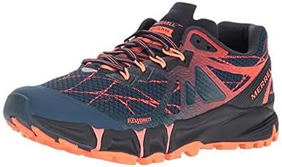 Merrell Women's Agility Peak Flex Trail Runner, Navy, 5 M US