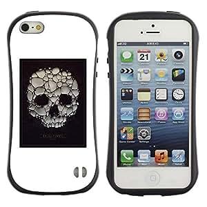Be-Star Impreso Colorido Diseño Antichoque Caso Del Iface Primera Clase Tpu Carcasa Funda Case Cubierta Par Apple iPhone 5 / iPhone 5S ( skull soap bubble death poster white )