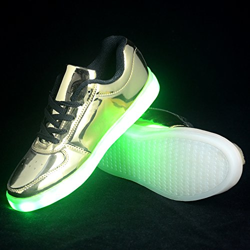 CleveYoung Flashing Shining Blinking Light-up Fashion Unisex Shoes Sneaker Metallic a5p7H8lF