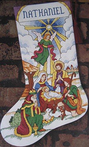 Stained Glass Nativity Stocking - Cross Stitch Kit #18343
