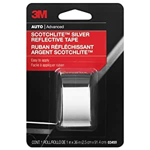 3M Scotchlite Reflective Tape, Silver, 1-Inch by 36-Inch