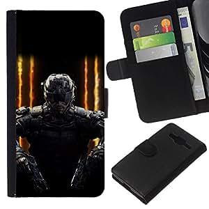 // PHONE CASE GIFT // Moda Estuche Funda de Cuero Billetera Tarjeta de crédito dinero bolsa Cubierta de proteccion Caso Samsung Galaxy Core Prime / FUTURE SOLDIER GAMING PC /
