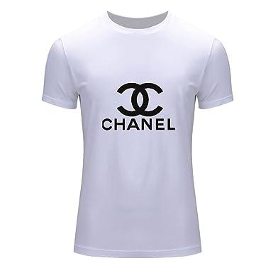 495fed155064 Chanel - T-Shirt - Homme Blanc Blanc L  Amazon.fr  Vêtements et ...