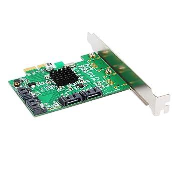 Mengonee PCI-e 4 Puertos 6G SATA III 3.0 Controlador Tarjeta ...