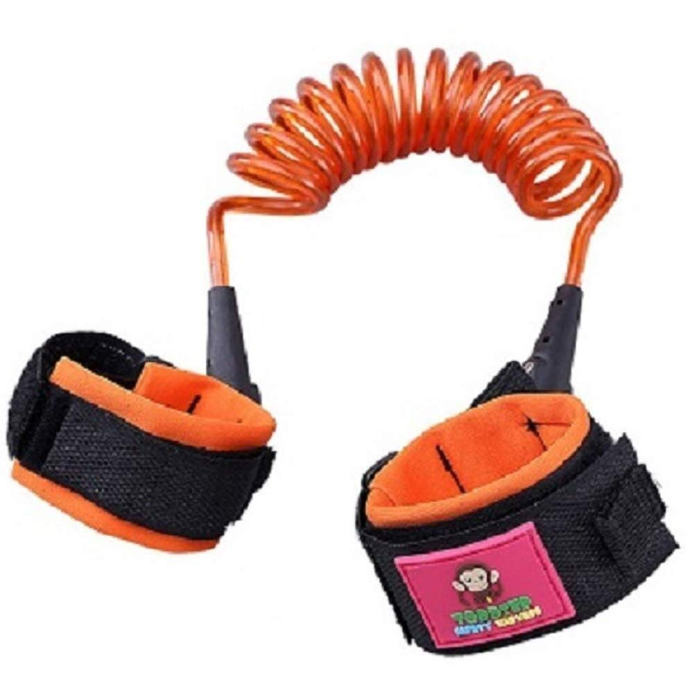 Baby Protective Travel Traction Rope Assistant Wristband Belt Baby Traction Rope (Color : Orange, Size : 2.5m)