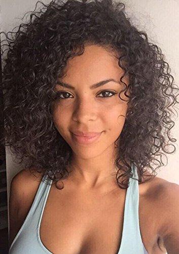 winbowig corto suelto rizado completo pelucas de encaje brasileño Virgin Remy Cabello humano sin pegamento Lace