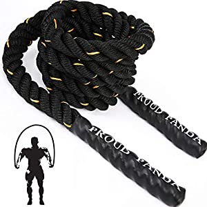 Well-Being-Matters 513S8GZ31bL._SS300_ Heavy Jump Ropes for Fitness 3LB, Weighted Adult Skipping Rope Exercise Battle Ropes for Men & Women, Total Body…