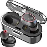 #3: TOZO T8 True Wireless Stereo Headphones TWS Bluetooth In-Ear Earbuds with Charging Case Built-in Mic Headset. Premium Sound with Bass for Running Sport - Super Easy Pair