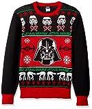 Star Wars Men's Sithmas Ugly Chirstmas Sweater, Black/Red, Large