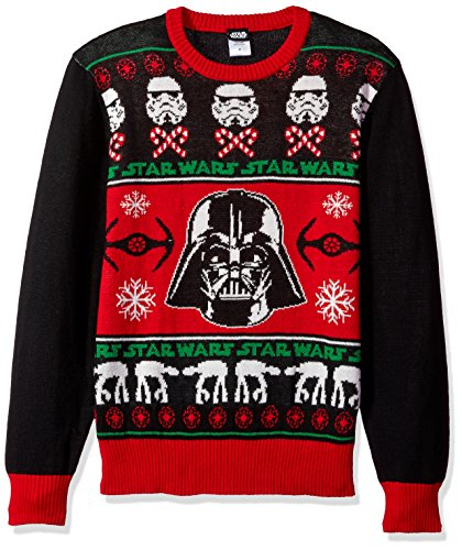 Star Wars Men's Sithmas Ugly Chirstmas Sweater, Black/Red, Medium (Mens Christmas Suits)