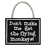 Flying Monkeys - Hanging Wooden Sign by My Word!