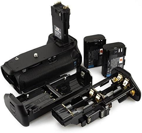Battery Grip + 2X LP-E6 LP-E6N Compat Canon EOS 70D 80D 90D