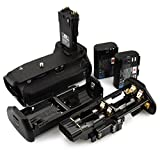 DSTE Pro BG-E14 Vertical Battery Grip + 2x LP-E6 LP-E6N for Canon EOS 70D 80D SLR Digital Camera
