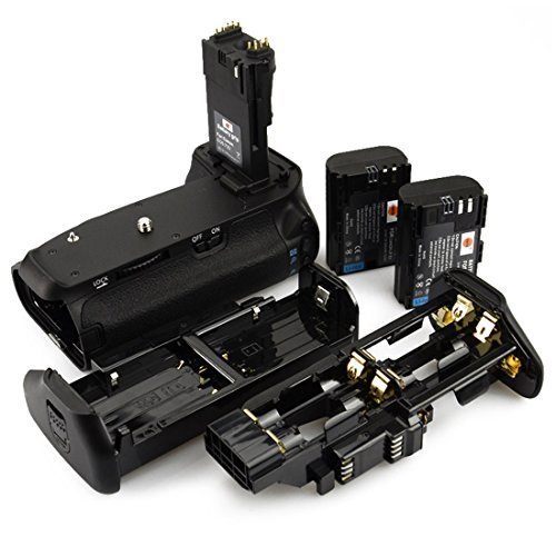 Pro Slr Accessory - DSTE Pro BG-E14 Vertical Battery Grip + 2x LP-E6 LP-E6N for Canon EOS 70D 80D SLR Digital Camera