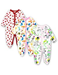 18439233c6185 Newborn Baby Boys Girls Clothes Babies Long Sleeve Sleepwear Romper Jumpsuit