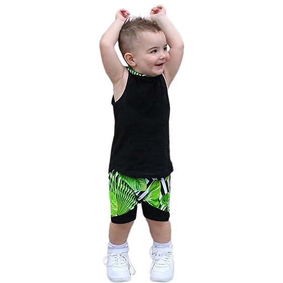 Amazon Com Staron Kids Baby Boy Clothes 2pcs Set Cute Hooded Vest
