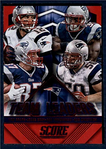 2015 Panini Score Team Leaders Red #1 Jonas Gray/Rob Gronkowski/Rob Ninkovich/Tom Brady NM-MT New England Patriots Football