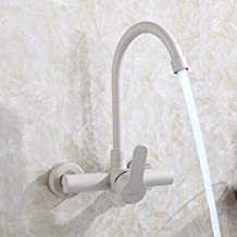 Gyps Faucet Basin Mixer Tap Waterfall Faucet Antique Bathroom Mixer Bar Mixer Shower Set Tap antique bathroom faucet The WALL MOUNTED KITCHEN 304 stainless steel hot and cold black water tap water to wash dishes Tub Laundry Pool, Big Bend,Modern Bath Mixer Tap Bathroom Tub Lever Faucet