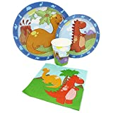 Blue Orchards Little Dinosaur Standard Party Packs (65+ Pieces for 16...