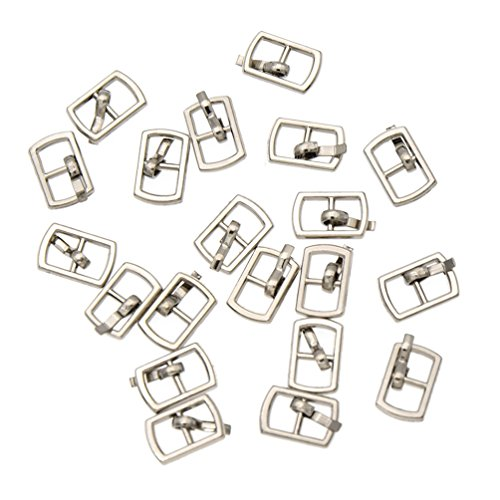 Sewing Clothes Supplies Doll - Towashine 20Pcs Mini Metal Pin Buckles Buttons 4.5mm Inner Diameter for Doll Clothes Shoes Bag Belt
