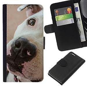 American Pit Bull Terrier Dog Breed - la tarjeta de Crédito Slots PU Funda de cuero Monedero caso cubierta de piel Apple iPhone 5C