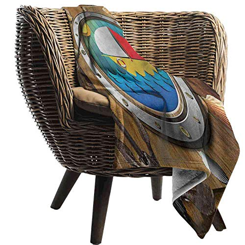 """Big datastore Blanket Anchor,Porthole Sailboat and Shells Blanket Pictures Customized Size:30""""x50"""""""
