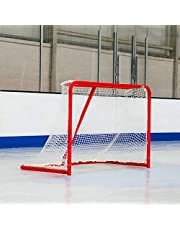 Professional Ice Hockey Goal – Full Size 72 inch Ice Hockey Goal with 5mm Net and 2 inch Galvanized Steel Frame [Net World Sports]