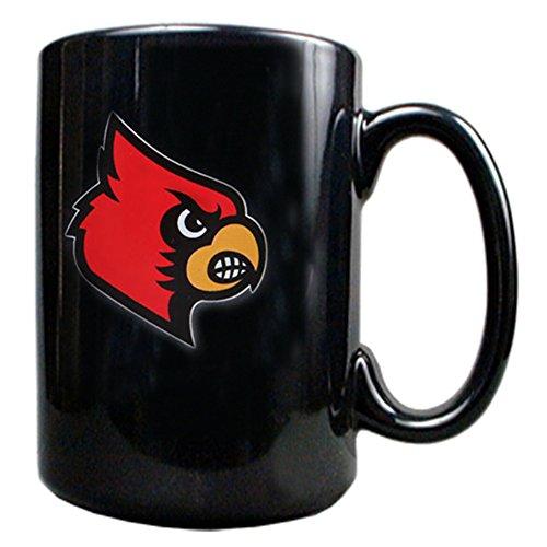 - Louisville Cardinals 15-Ounce Black Ceramic Mug