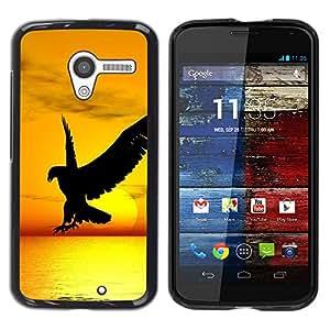- FLIGHT SUNSET HAWK YELLOW WILD BIRD EAGLE - - Monedero pared Design Premium cuero del tir???¡¯???€????€?????n magn???&rsquo