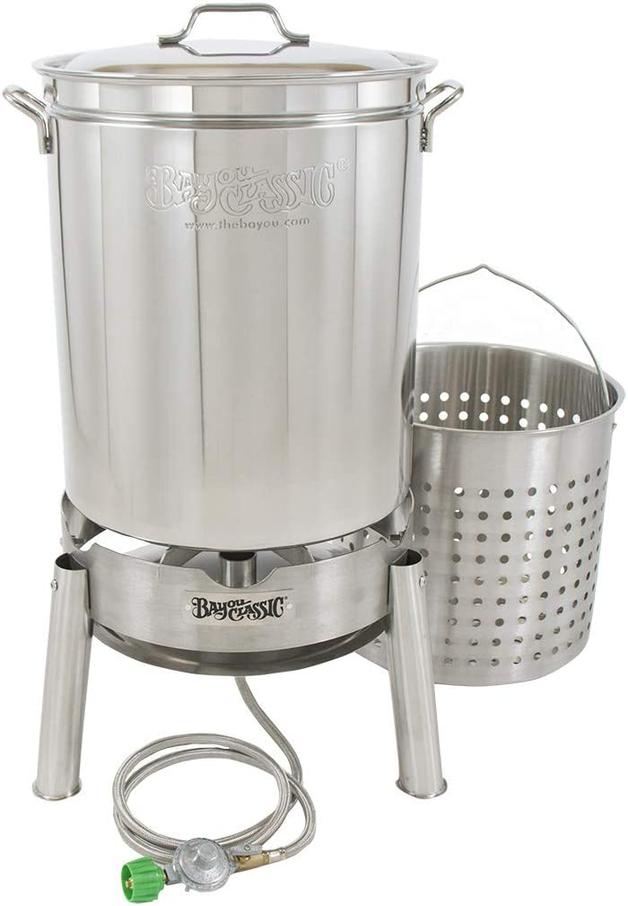 Bayou Classic KDS-160 Stainless 62qt Boiler/Steamer