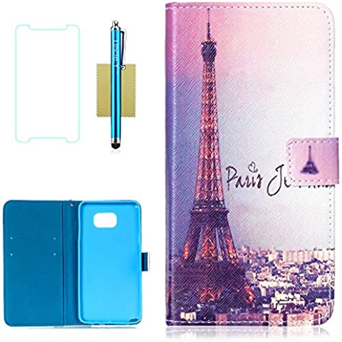 Galaxy S7 Case,S7 Case,Galaxy S7 Wallet Case,Uncle.Y Pu Leather Flip Case Stand Folio Cover Case for Samsung Galaxy S7 (Eiffel Tower) Sales
