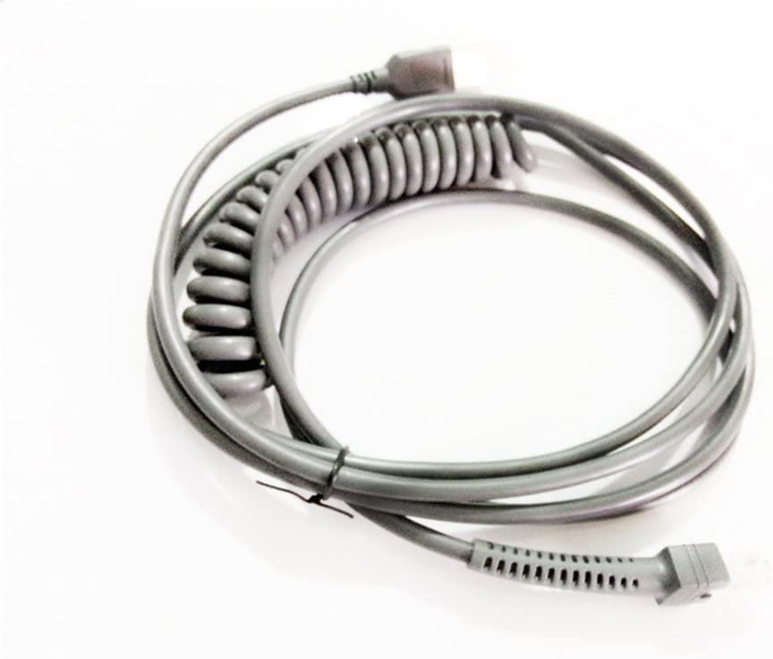 3mtr Spiral 2pcs E-Simpo LS2208 Spiral USB to RJ45 Cable 3mtr for Barcode Scanner Ls2208ap Ls1203 Ls4208 Ls4278 Ds6707 Ds6708 USB Cable,Follow Settings to Replace Old PS//2 or RS232 Cable